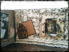 Tell me all #scrapbooking #minialbum #albumdesplegable #scrap #vintage #kaiser #inspiration #chbycarolacoch @Carol Van De Maele Van De Maele Auvil Coch