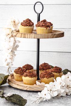 Baking Cupcakes, Vanilla Cupcakes, Homemade Desserts, Delicious Desserts, Boston Cream Pie Cupcakes, Whipped Chocolate Ganache, Two Layer Cakes, Creamy Chicken Pasta, Recipe Generator
