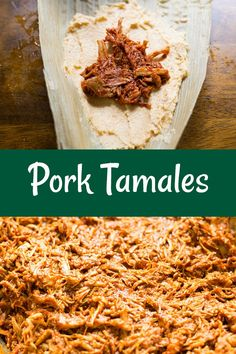 These delicious pork tamales are super popular during the holidays. Raw Food Recipes, Meat Recipes, Gourmet Recipes, Cooking Recipes, Cooking Tips, Freezer Recipes, Freezer Cooking, Drink Recipes, Mexican Cuisine