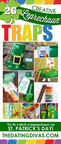 Creative ways to catch leprechauns for St.Patty's Day. Fun St. Patrick's Day STEM project for kids.