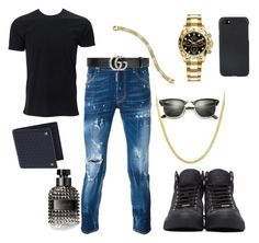 """Untitled #103"" by algena on Polyvore featuring Dsquared2, Simplex Apparel, Allurez, Rolex, Lord & Taylor, Valentino, Gucci, Ray-Ban, Shinola and Jimmy Choo"