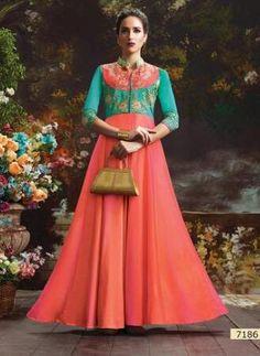 Blush Vol-12 Silk Base Designer Gowns (9 pc catalog)
