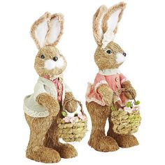 Each of our charming bunnies is handcrafted and dressed head to toe in their Easter best. Their fun little accessories speak to their own personality. Good looks must run in the bunny family.