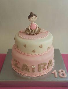 Tarta Bailarina #fondant #cakes