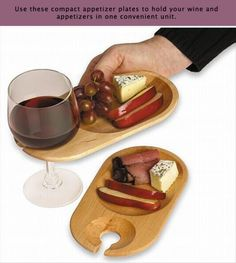 Wood Cocktail Plates