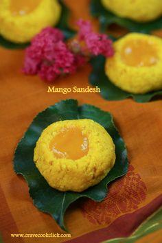 Aam Sandesh/Mango Sandesh Recipe: Mango flavored cottage cheese based Bengali sweet