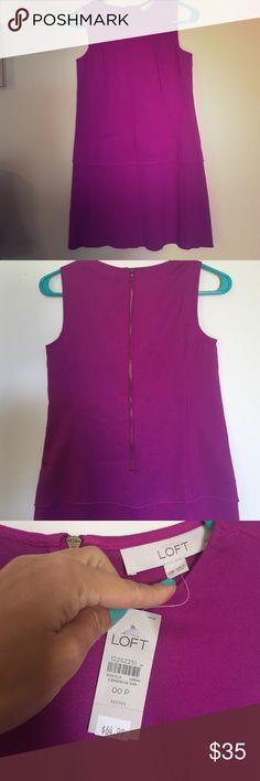 Purple LOFT 00P Cocktail Dress NWT Amazingly beautiful dress! Brand new with tags LOFT Dresses Mini