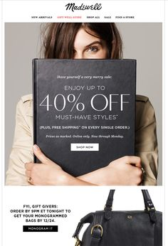 madewell email design
