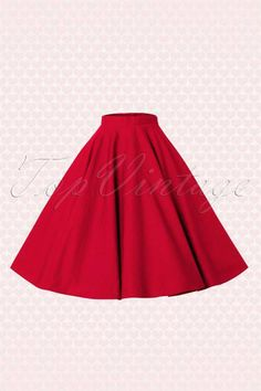 Bunny 50s Paula Swing Skirt in Red online kopen