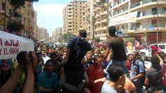"""شباب غرب الأسكندرية يشعلون منطقة البيطاش بهتافات حماسية فى جمعة """"قاطع رئ..."""