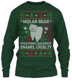 Molar Bear Fighting Against Enamel Cruelty T-Shirt Front
