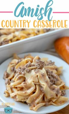 Amish country casserole Amish Country Casserole is an easy and budget-friendly meals. Egg noodles, ground beef, special sauce and seasonings with a touch of cheese! - Amish Country Casserole - The Country Cook - main dishes Amish Country Casserole Recipe, Dinner Casserole Recipes, Casserole Dishes, Taco Casserole, Chicken Casserole, Dinner Recipes, Country Recipe, Dinner Ideas, Pasta Dishes