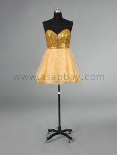Sweetheart Yellow Girls Sweet 16 Dresses Price $118.99 #asapbay