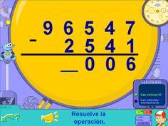 Operaciones: restas en Segundo ciclo de Primaria con Pipo (8-10 años) #restas #matemáticas #math #educación #PDI #online