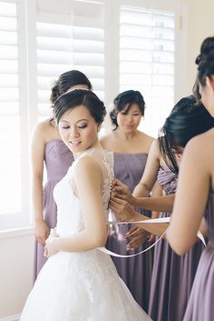 This Rustic Romantic Bella Vista Lodge Wedding from Moving Films and Maree Wilkinson features a Pronovias dress and lavender bridesmaids. Pronovias Dresses, Lavender Bridesmaid, Lodge Wedding, One Shoulder Wedding Dress, Wedding Gowns, Style Me, Wedding Photos, Romantic, Pretty