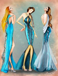 Daughters of Poseidon Fashion Collection 1 by BasakTinli on deviantART