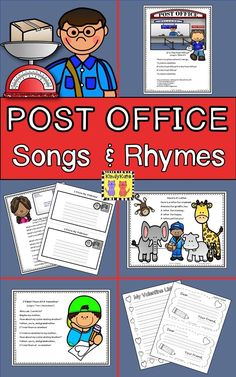 These first class post office oriented songs and rhymes will certainly win your stamp of approval! Community Helpers Preschool, Preschool Lessons, Preschool Class, Preschool Learning, Preschool Ideas, Teaching Ideas, Art Activities For Toddlers, Lesson Plans For Toddlers, Music Activities