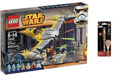 LEGO Star Wars Naboo Starfighter 442 Pcs & Star Wars Projector Pen, Colors may vary Playsets Building Toys ** Read more  at the image link.