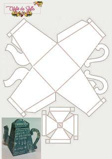 3d Paper Crafts, Diy Paper, Paper Tea Cups, Paper Box Template, Paper Umbrellas, Printable Box, Diy Gift Box, Party In A Box, Paper Folding