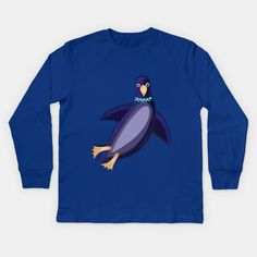 PENGUIN 1 - Penguin - Kids Long Sleeve T-Shirt | TeePublic