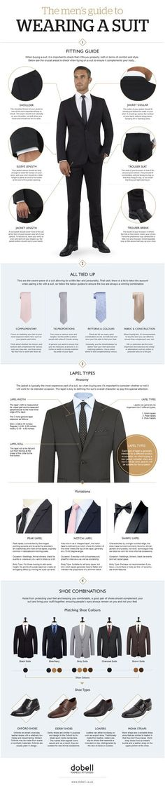 A suit can make you look superior to the rest of your colleagues. They add so much splendor to your dashing personality. Just take a look at these tips. #GuideToMensClothing