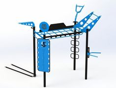 Monkey Bar Bridge with new training features Calisthenics Equipment, Gym Exercise Equipment, Training Equipment, Backyard Gym, Power Coating, Suspension Trainer, Gym Room At Home, Outdoor Gym, Outdoor Living