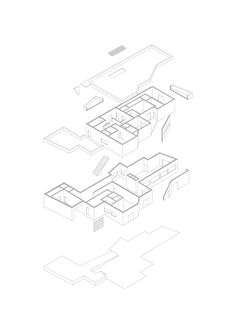Precedent study of Casa Vieira de Castro, Alvaro Siza. The very first isometric that I ever did. First time I realized that buildings are so freaking complex. I didn't understand why Siza did what he. Architecture Student, Thesis, Portugal, Buildings, Design, House, Photos, Haus