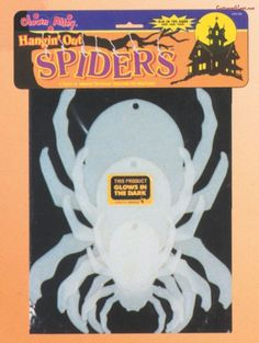Glow Hanging Spiders#Glow, #Hanging, #Spiders Halloween Spider Decorations, Halloween Scene, Halloween Home Decor, Creepy Halloween, Halloween Costumes For Kids, Halloween Party, Fright Night, Oriental Trading, The Darkest
