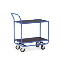 GTARDO.DE:  Stahlrohr-Tischwagen, 2 Ladeflächen 810 x 610 mm, Tragkraft 300 kg, Polyamid-Räder 225,00 €