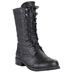 Amazon.com: Women Military Style Combat Boot Black: Shoes