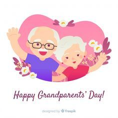 Grandparent's day composition with flat design Free Vector Grandparents Day Cards, Design Plano, Mother's Day Printables, Happy Birthday Wishes Quotes, Composition, Framed Wallpaper, Cool Drawings, Free Design, Vector Free