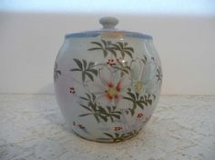 Beautiful Vintage Japanese Hand Painted Ginger Jar by MossyCottage $30.00