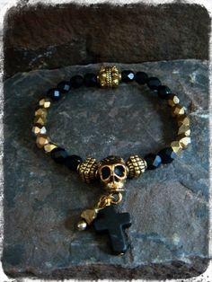 Sugar Skull Bracelet Sugar Skull Jewelry Skull by ShopSparrow, $10.99
