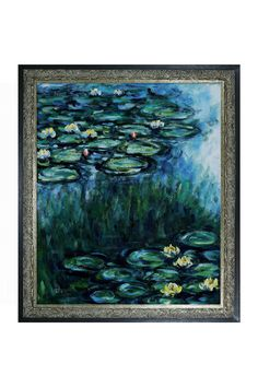 "Claude Monet Water Lilies Oil on Canvas [24"" x 20""]"