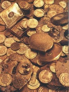 A Treasure Chest Full of Coins I kept under my bed! A pirate got them for me (he was on the same ship as Captain Hook from Peter Pan).