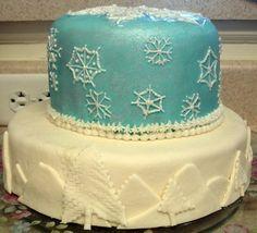 Fun Winter Snowflake Cake 2010