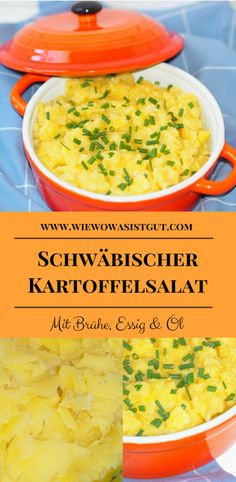 Schwäbischer Kartoffelsalat We Swabians traditionally eat our Swabian potato salad only with broth, vinegar and oil – not with mayonnaise. The Thermomix is a bit faster with the production. Food Blogs, Caldo, Party Buffet, Paleo Dinner, Fabulous Foods, Vegan Life, International Recipes, Soul Food, Paleo Recipes