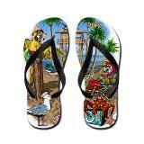 Flip Flops On The Beach | Hawaii Flip Flops | Hawaii Flip Flops Sandals - CafePress
