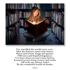 Why I love books.....brings me to a secret world which no one but other bibliophiles would understand