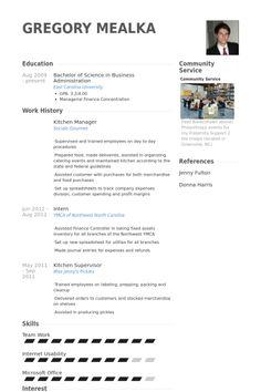 resume examples kitchen helper resume examples pinterest