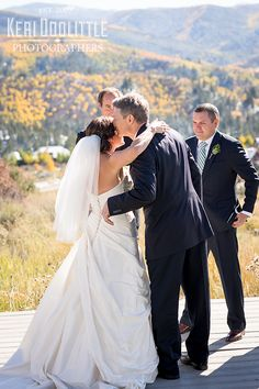 Patsy's Bride Hannah looked stunning on her destination wedding day in Colorado. Gorgeous!