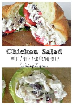 Chicken Salad with Apples and Cranberries - easy, healthy recipe.