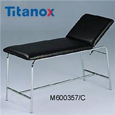 TX 600357/C Canapea de examinare realizata din otel cromat  pe structura tubulara, spatar reglabil, husa saltea realizata din material lavabil. - http://ortopedix.ro/pat-pentru-ingrijire-acasa/1110-tx-600357c-canapea-de-examinare.html