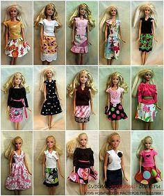 Выкройки одежды для куклы Барби - развивай креативность в своем ребенке 20 фотографий