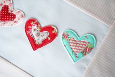 patterned hearts in lovely colors from a little sweetness
