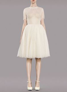 CHANTILLY LACE CUPCAKE DRESS by Honor, $7,600