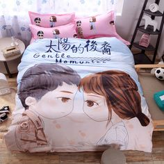 Find More Bedding Sets Information about New Big Printing Single Twin Queen Size Bedding Set 3 4pcs Duvet Cover Sheet housse de couette Totoro cama shark bedding,High Quality bedding nautical,China sheet 8 Suppliers, Cheap sheet wall from Top Qulity Human Hair Factory on Aliexpress.com