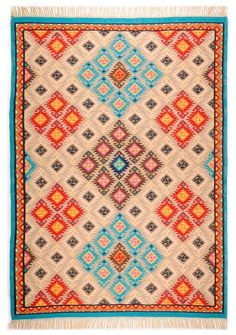 Schöner Kelim Teppich, handgewebt aus 100% Schurwolle bei onloom Teppiche - gratis Versand & 30 Tagen Rückgaberecht!