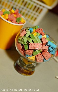 Lego Candies at a Lego Birthday Party