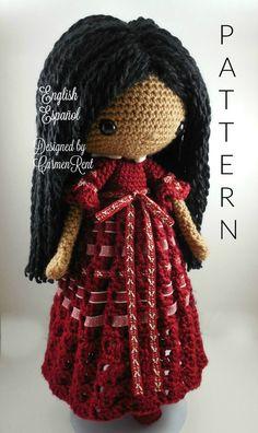Angela Amigurumi Doll Crochet Pattern PDF by CarmenRent on Etsy